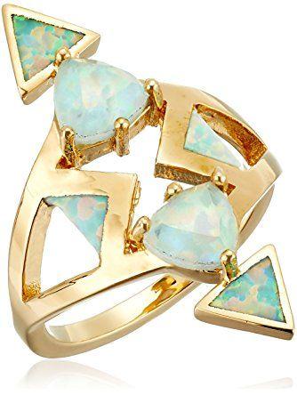 Noir Jewelry Kalliope Statement Ring, Size 8 ❤ Noir Jewelry