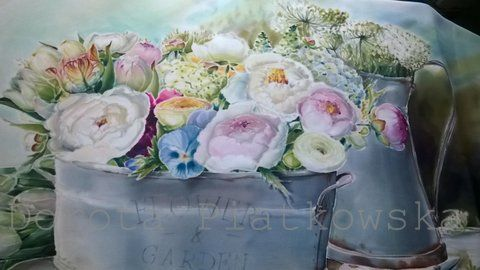 silk painting ,flowers