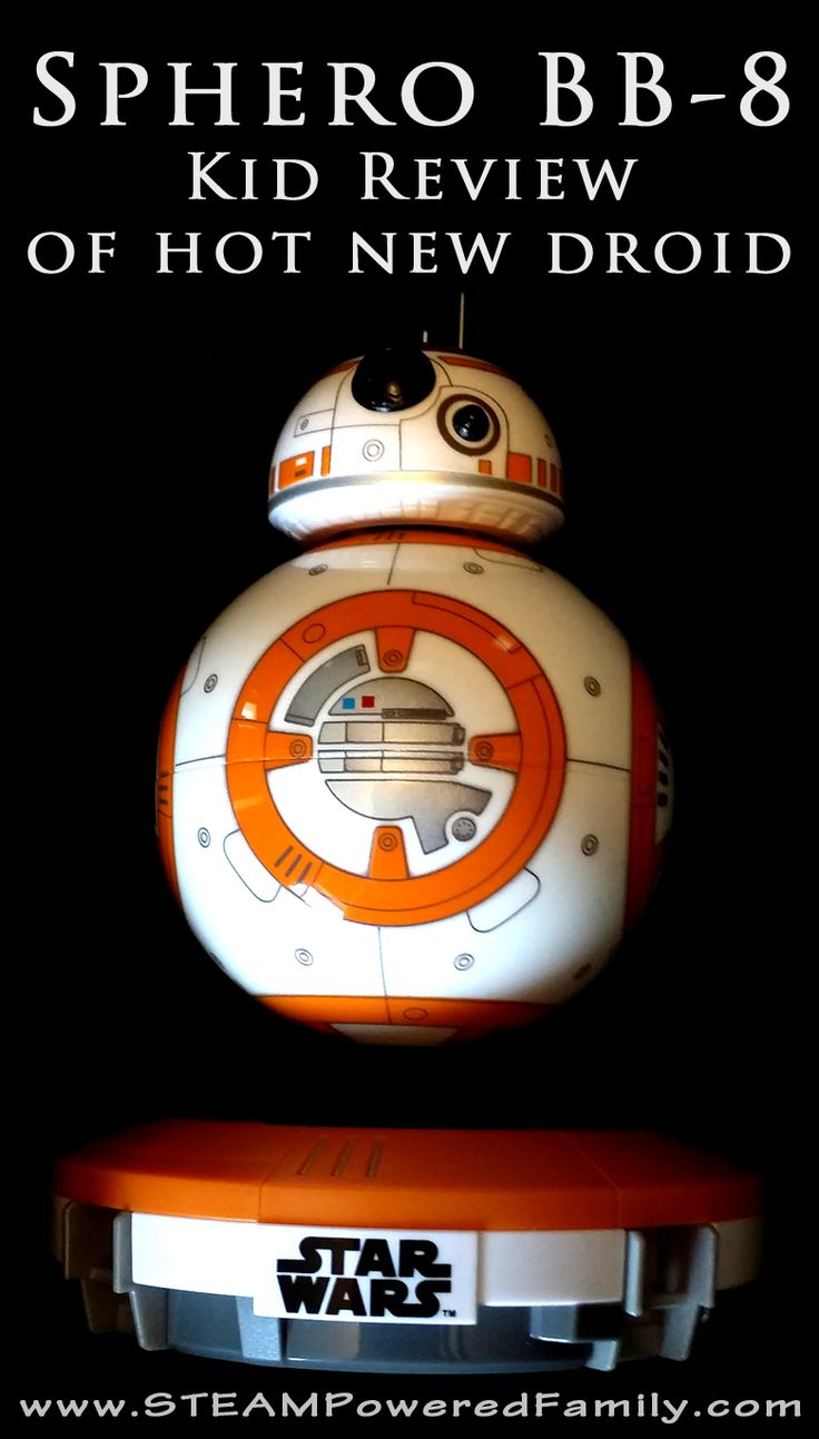 Sphero BB-8 droid is one of the most adorable new robotics toys. It's like having a new friend to play with. Check out this kid review of BB-8