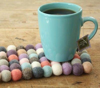 with felt balls, these are from Søstrene Grene