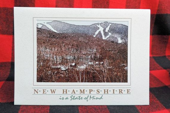 Ski New Hampshire photo art greeting card! Loon Mountain is one of New Hampshire's most popular ski resorts and one of the most popular in the east as well. Beautiful winter scenery in the White Mountains! $5.00.
