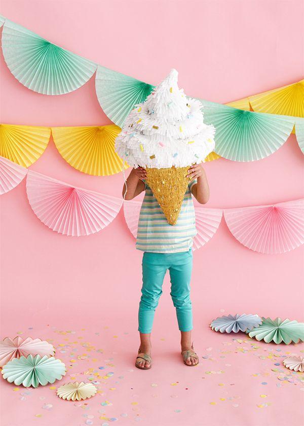 Soft Serve Ice Cream Cone Pinata | Oh Happy Day!