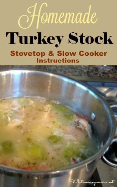 How To Make Homemade Turkey Stock - Stovetop & Slow Cooker Instructions…