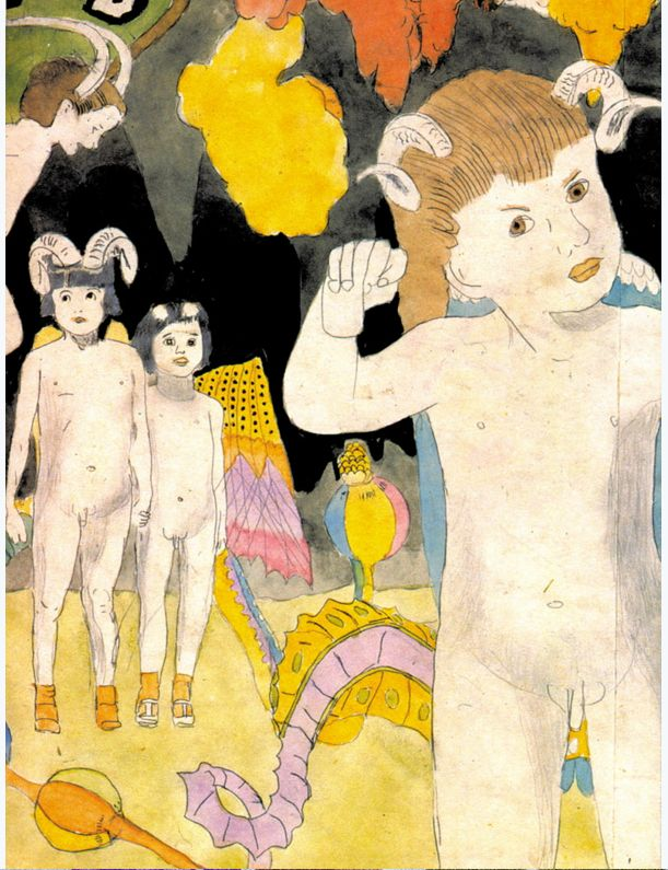 Henry Darger. At Jennie Richee - narrowly escape capture when attacked by the Glandelinians