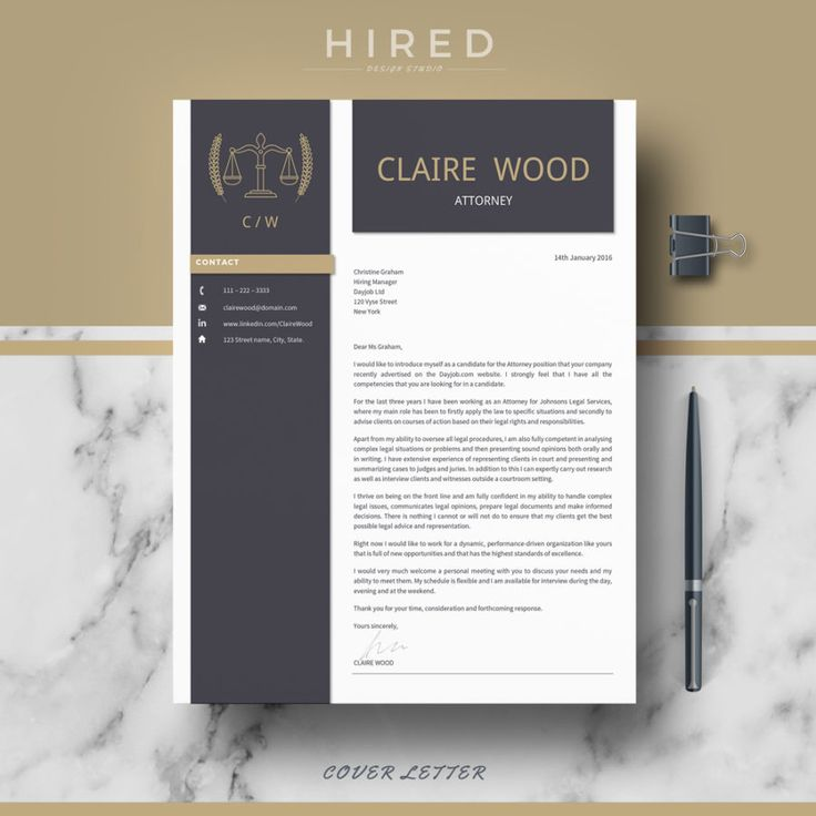 Legal Resume Template for MS Word Claire