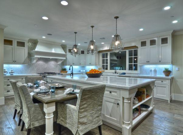 kitchen island with attached table kitchen kewamee kitchen designs decorating ideas - Kitchen Island With Table Attached