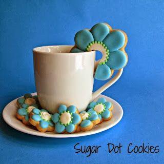 Sugar Dot Cookies: Mug Sitter Cookies