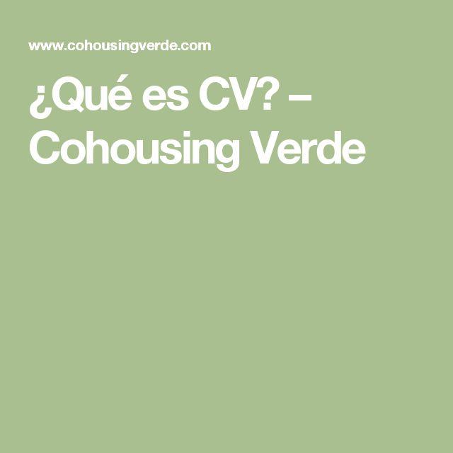 ¿Qué es CV? – Cohousing Verde