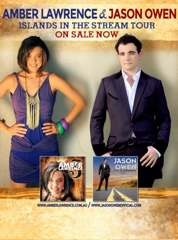 #AmberLawrence and #JasonOwen - see catch their 'Islands in the Stream' tour 2013