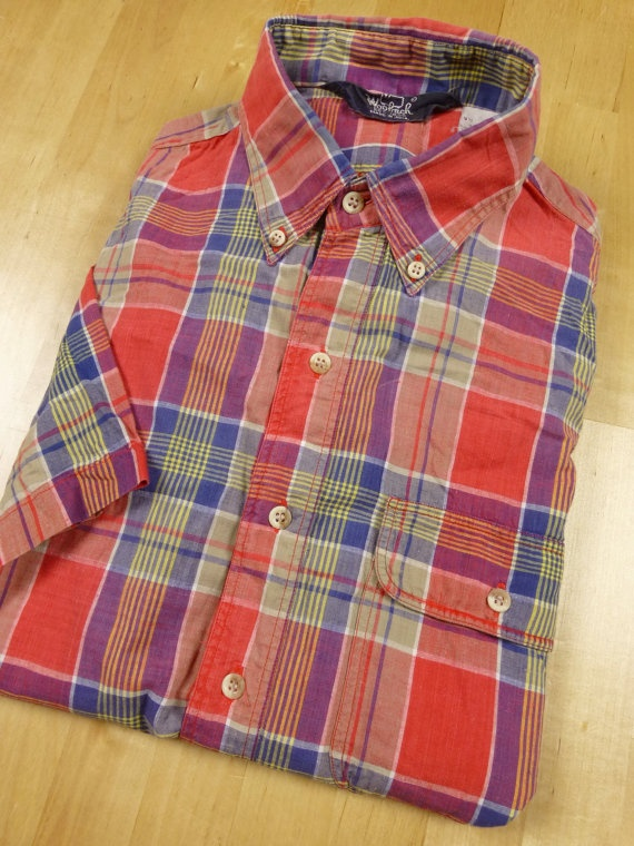 vtg WOOLRICH indian madras shirt made in india  by SaltySalute, $34.00
