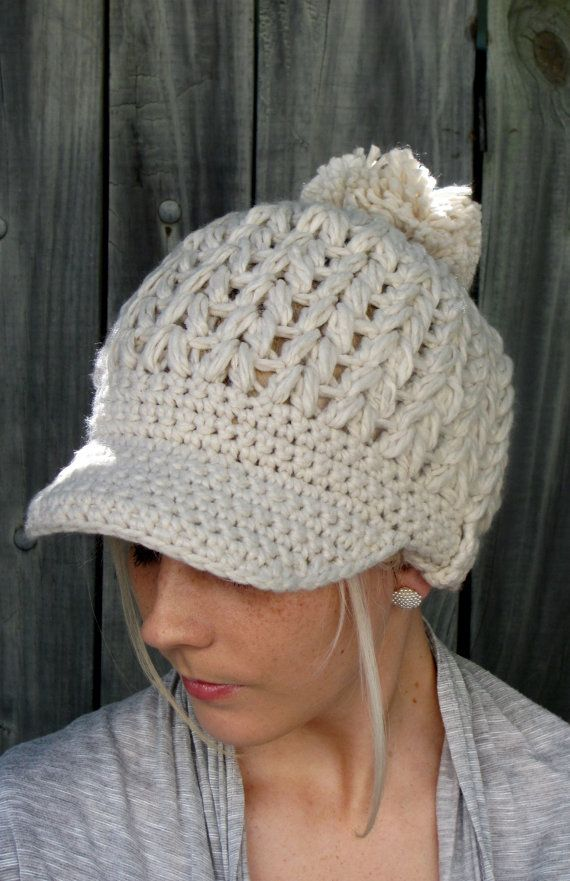 Womens Newsboy hat @Erica Cerulo Potucek No idea how you'd make this, but it's so cute!