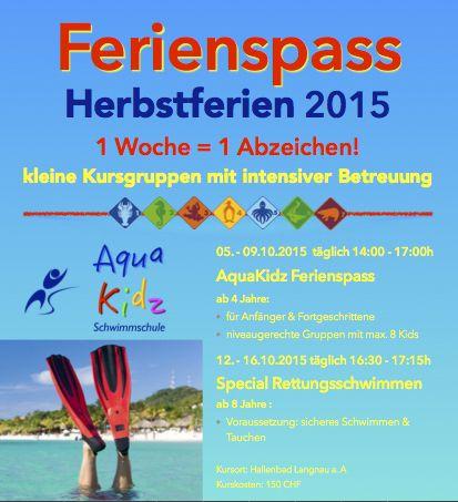 Spiel! Sport! Spass in den Herbstferien 2015
