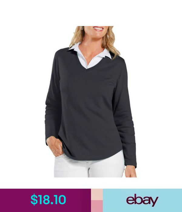 LAT Women/'s New Terry Taped Long Sleeve V Neck Tail Bottom Pullover L3761