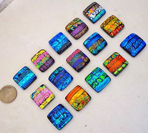 Fused Glass Backsplash | 15-DICHROIC-FUSED-ART-GLASS-SQUARE-CABS-KITCHEN-BACKSPLASH-BATH-MOSAIC ...