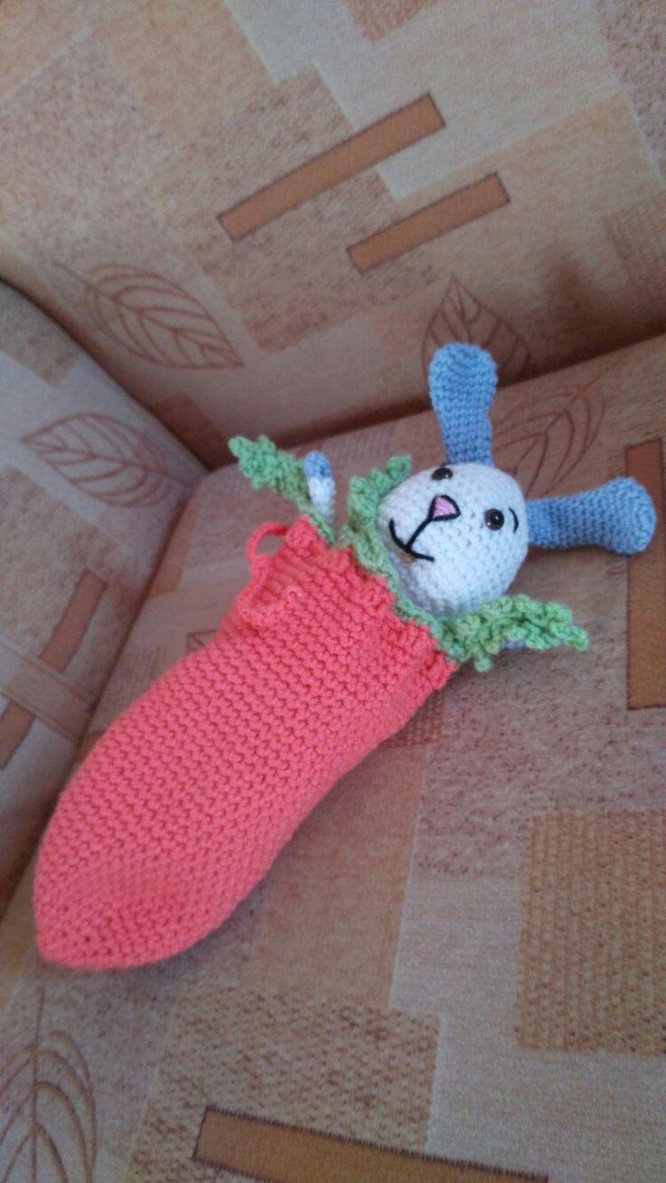 The rabbit  sleeps