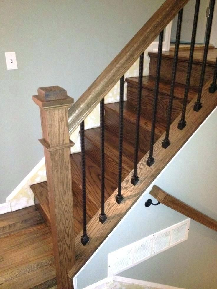 Stair Installing Balusters New Wood Railing Cost Replace Railings On Stairs And A Modern Closed Box Lift Wood Stairs Wrought Iron Stairs Staircase Design