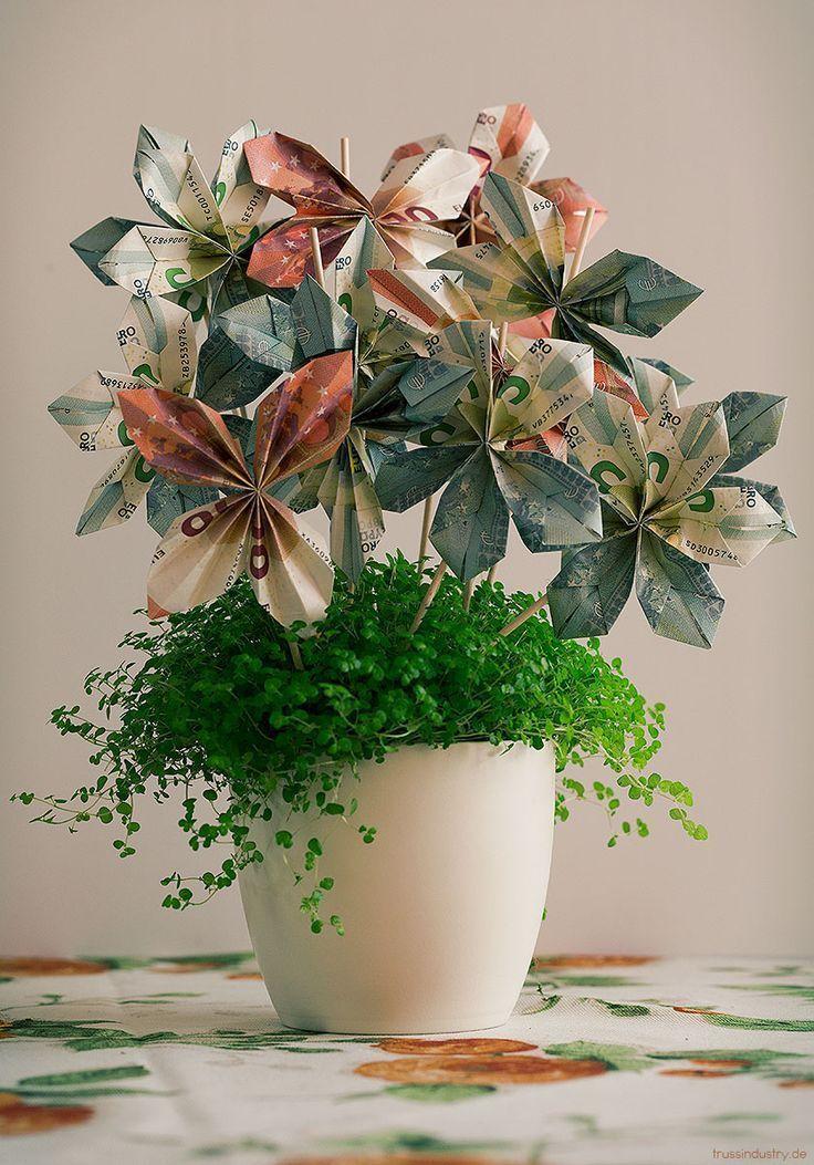 Blume des Geldes #flower #money- -#Geldgeschenke - Hochzeitsgeschenk