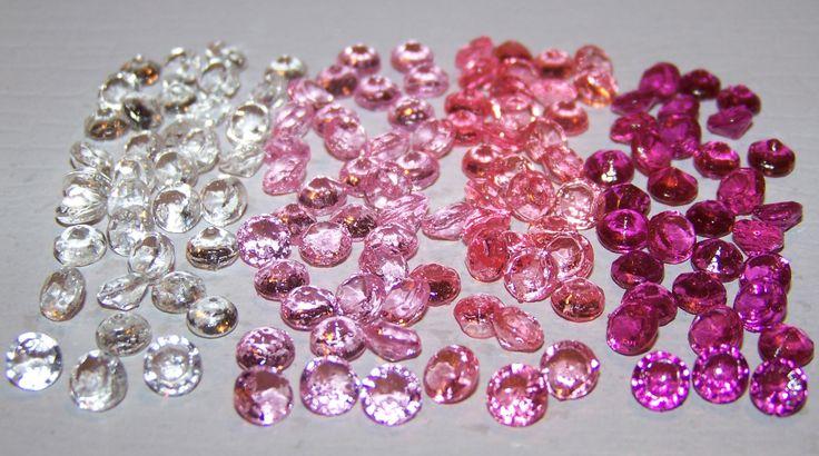 Bachelorette Party Weekend. Hot Pink, Black, and Silver. Edible Sugar Diamonds