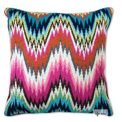 Jonathan Adler Bargello Worth Avenue Wool Throw Pillow | AllModern