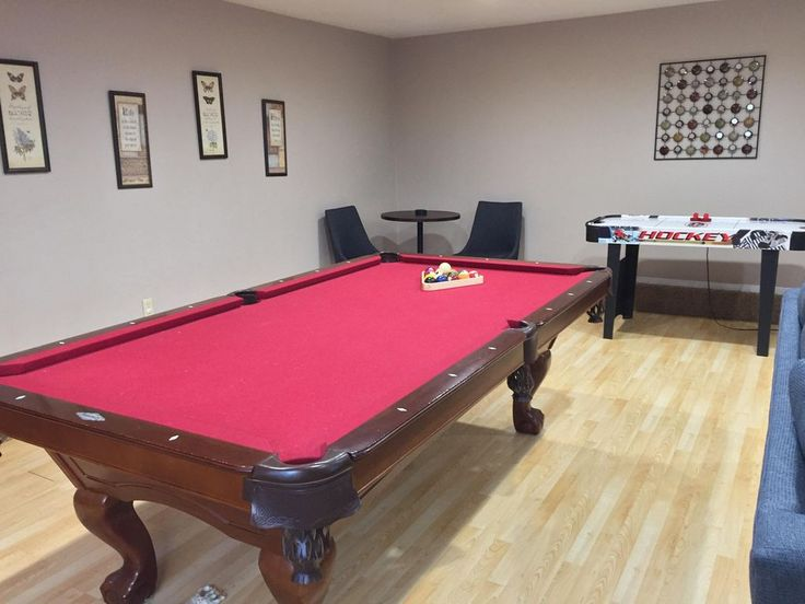 Family Room: Pool Table Regulation Size.