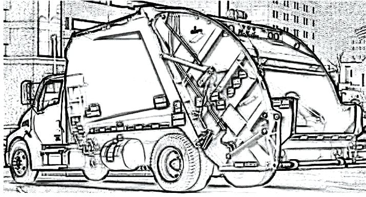 trash truck coloring pages - 50 best images about cars coloring pages on pinterest