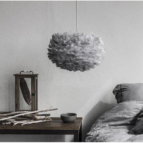 Fjäderlamp Light grey Eos pendel - Nyhet