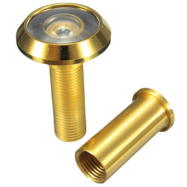 Adjustable 180 Degree Wide Angle Door Viewer Peep Brass Sight Hole For Home Security Tool - ICON2 Luxury Designer Fixures  Adjustable #180 #Degree #Wide #Angle #Door #Viewer #Peep #Brass #Sight #Hole #For #Home #Security #Tool