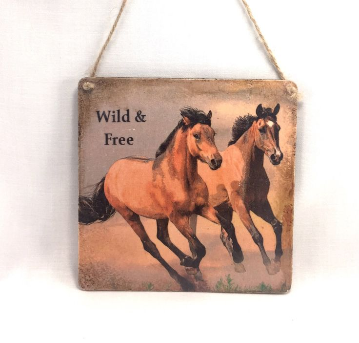 A personal favourite from my Etsy shop https://www.etsy.com/uk/listing/535732308/fiver-friday-horse-wooden-plaque-horses