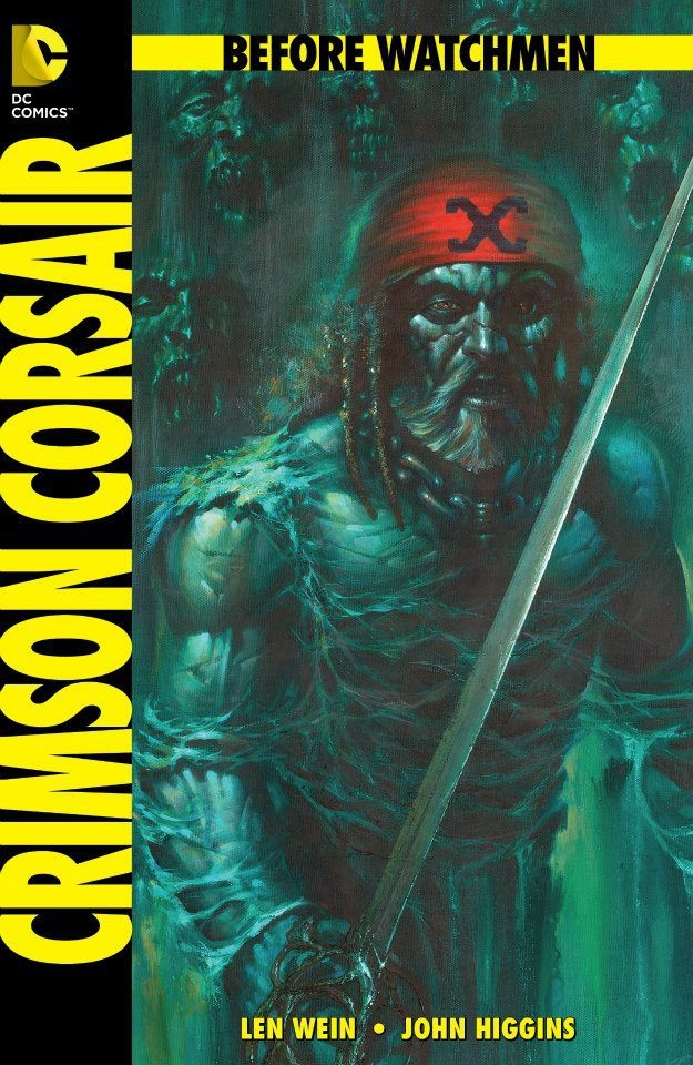 This Epilogue one-shot will also feature a Crimson Corsair story written by Len Wein and drawn by John Higgins. Higgens has also written and drawn the Crimson Corsair back-up features that appear in many of the Before Watchmen publications.