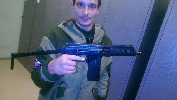 Sepratist fighter with Russian made 9A-91