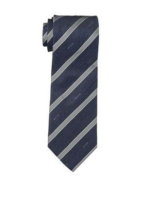 Moschino Men's Striped Tie, Navy