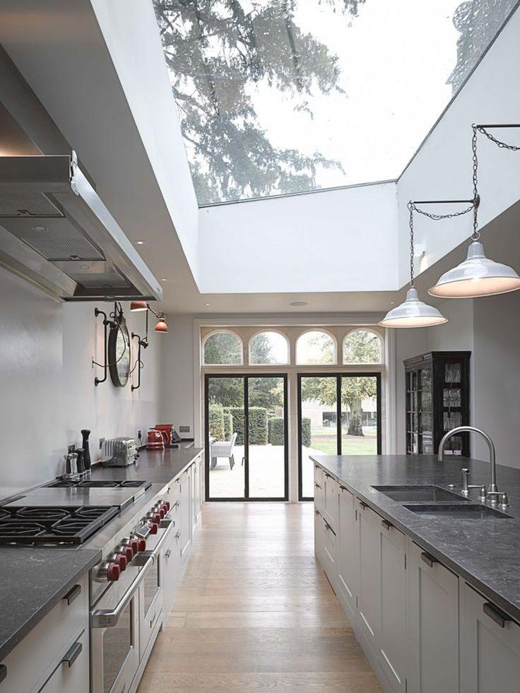 iluminação natural superior em cozinha