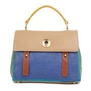 Yves Saint Laurent A Grade PU Leather Muse Bag - Blue/Beige