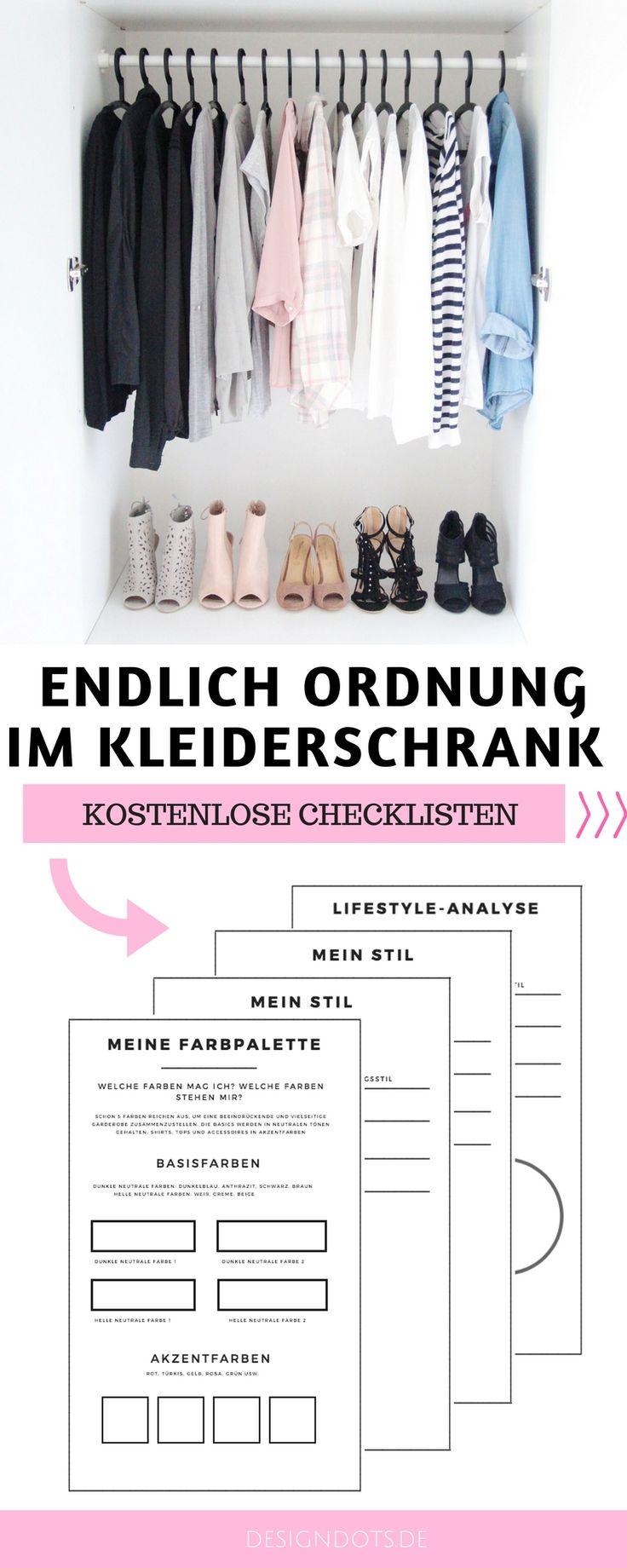 KOSTENLOSE CHECKLISTEN zum downloaden - für mehr Ordnung im Kleiderschrank!