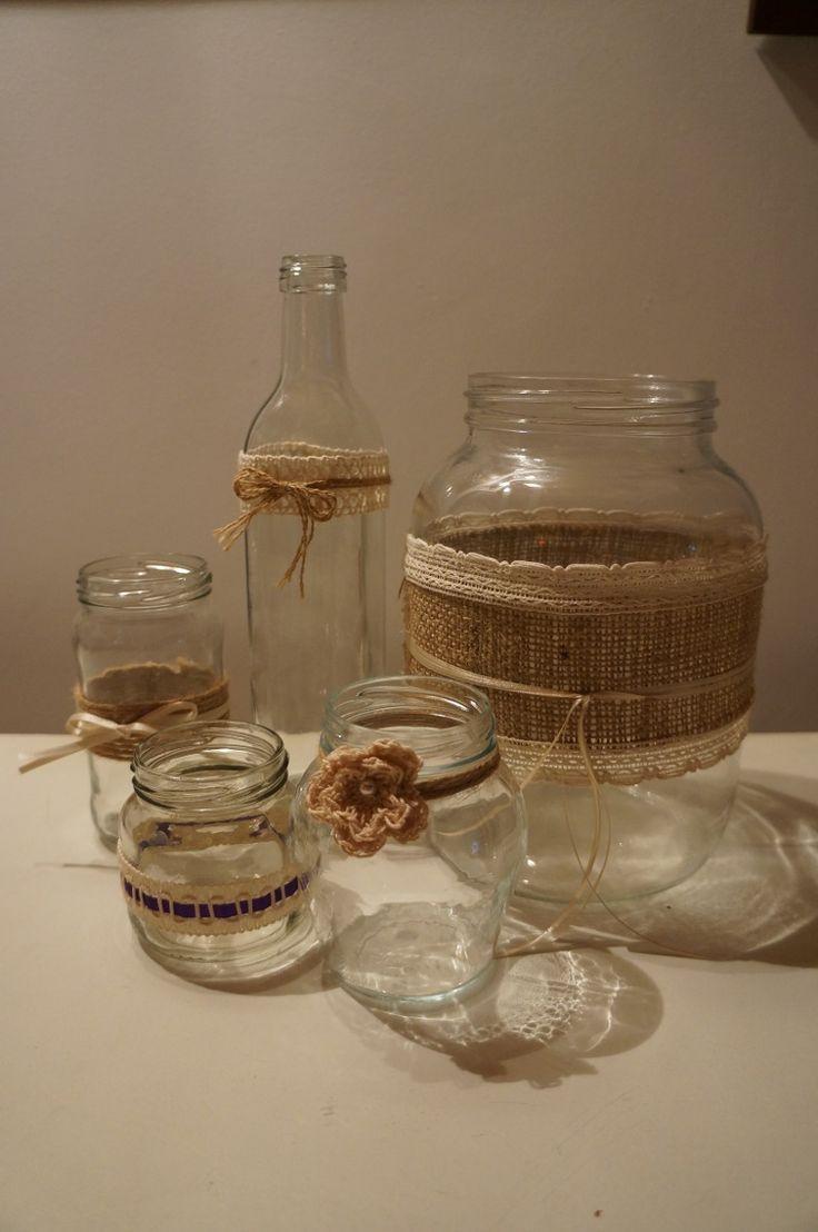 frascos decorados bodas