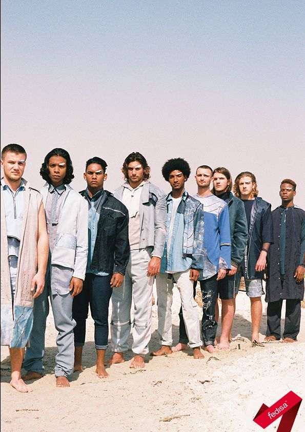 The FEDISA Markham Menswear Module was a collaboration with The Foschini Group's brand. The students created a 3-piece look each according to a trend for S/S 16/17. Photo by Sabrina Scott.