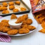 Doritos Crusted Chicken Fingers Recipe - Oven baked Nacho Cheese flavor