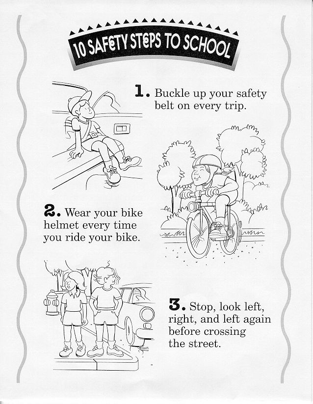 Safety Coloring Pages Bicycle Safety Bike Safety Activities Coloring Pages