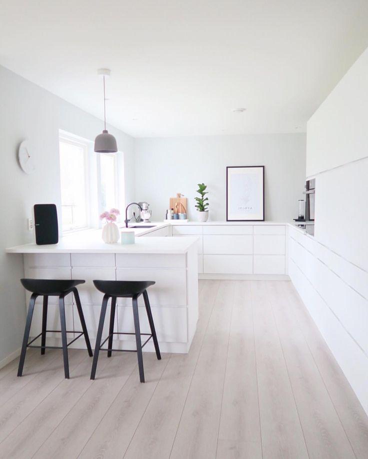 Simple minimal modern white kitchen