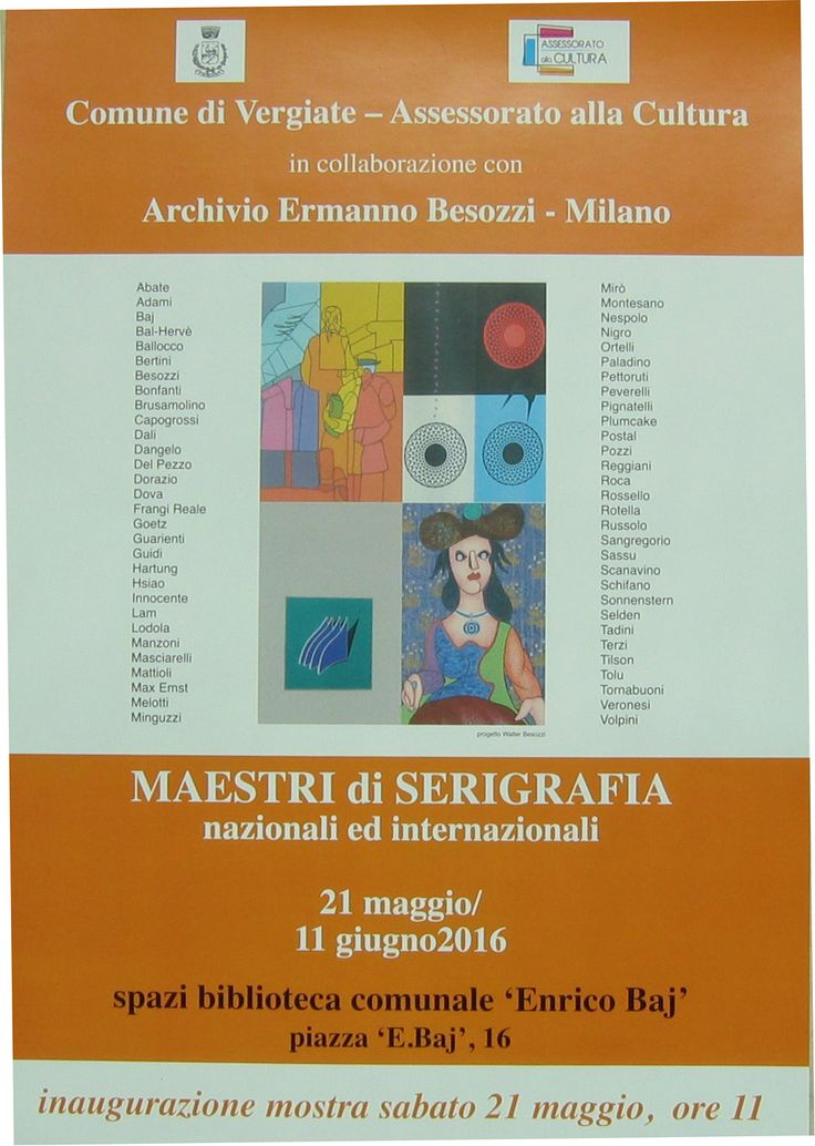 2016 Mostra collettiva di grafica artisti italiani e stranieri Vergiate