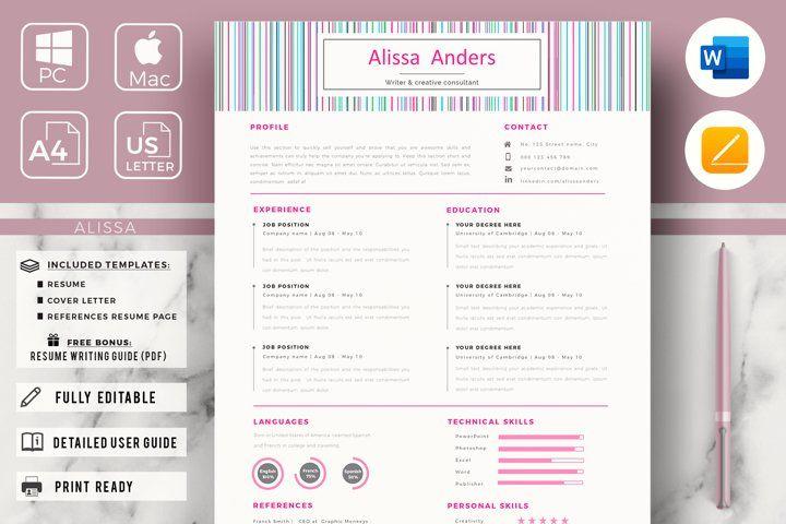 1 Page Creative Resume Template New Graduate Resume Cv 559502 Resume Templates Design Bundles Creative Resume Templates Creative Resume Cover Letter For Resume