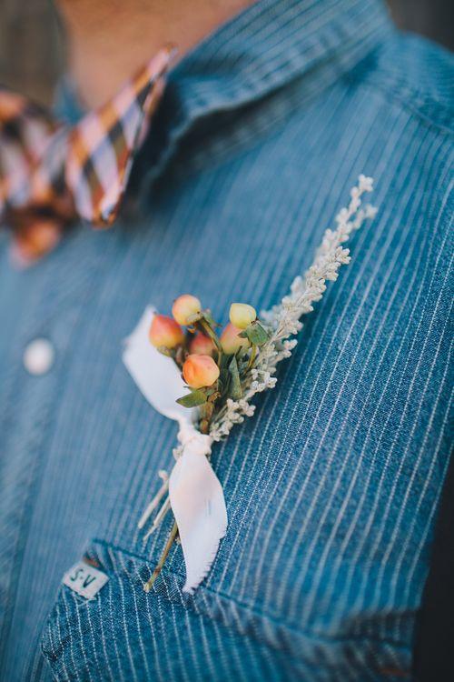 Hagen Flora -  Wedding Florals. Arizona Wedding. Feathers. Wedding Flowers. Native Wedding. Boutonniere.