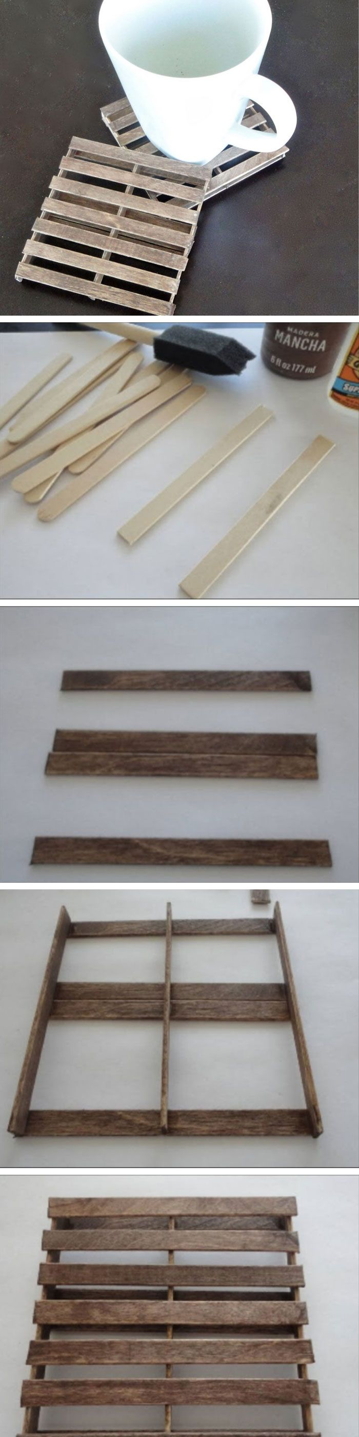 DIY Mini Pallet Coasters | 20 DIY Fathers Day Gift Ideas from Wife | DIY Holiday Gift Ideas for Men