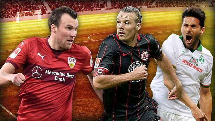 Drei Stars (v.l.), die mit ihren Klubs gegen den Abstieg kämpfen: Großkreutz (Stuttgart), Meier (Frankfurt) und Pizarro (Werder)