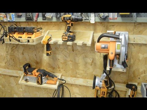 Building a french cleat system for power tools youtube for Building design tool