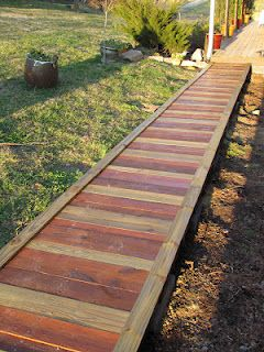 Our new, Pinterest inspired boardwalk.