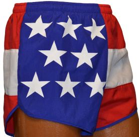 Flag Running Shorts - USA - women non split short size small
