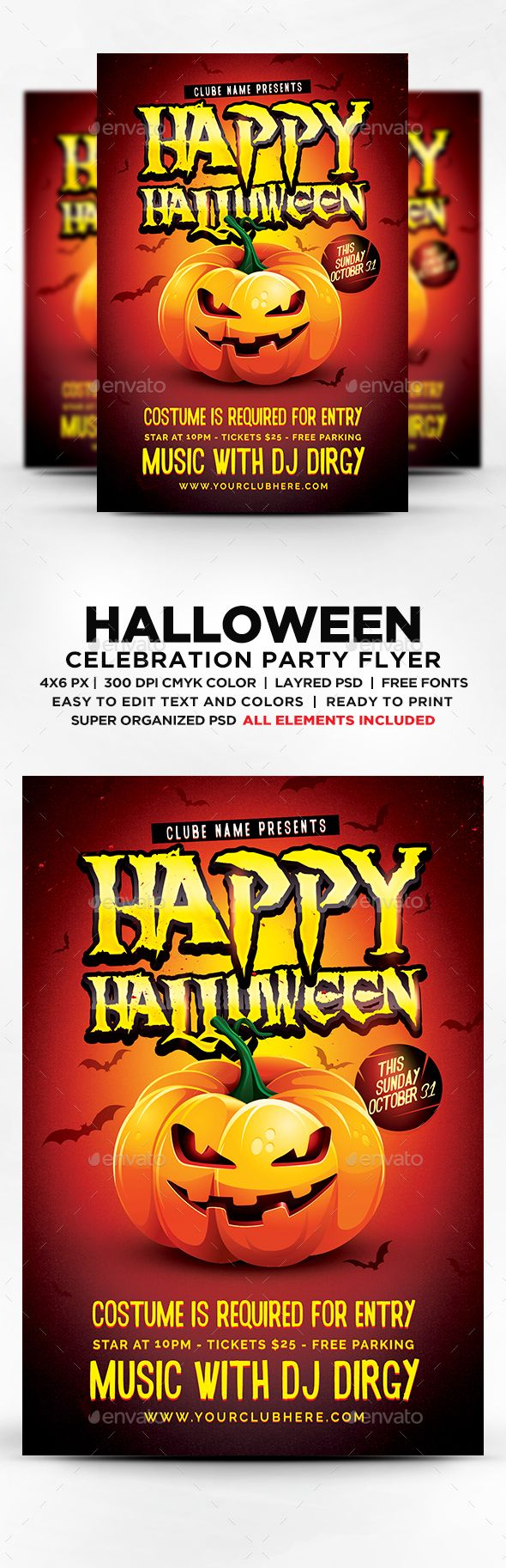 25+ Best Ideas about Halloween Party Flyer on Pinterest ...