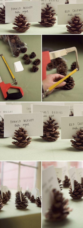 Comment réaliser des marque-places originaux en pomme de pin?