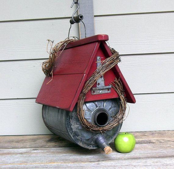Vintage Gas Can Birdhouse